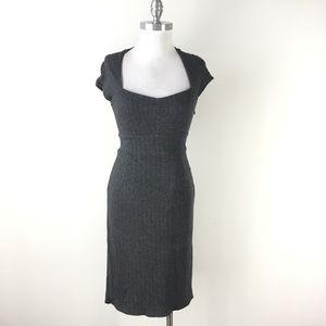 anana Republic Xs 2 Gray herringbone Black dress